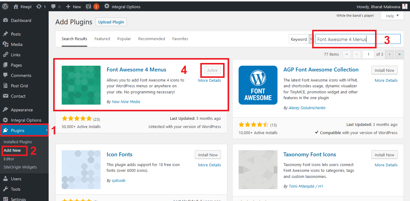 How to Add Font Awesome Icons to WordPress Websites Menus