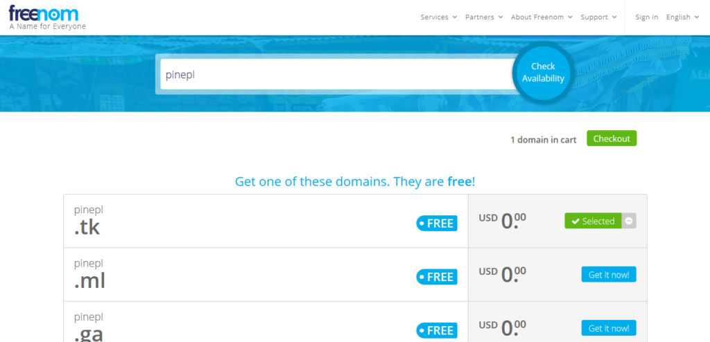 How To Register Free Domains